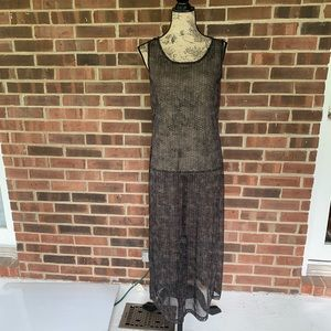 Anne Klein sheer maxi sleeveless dress